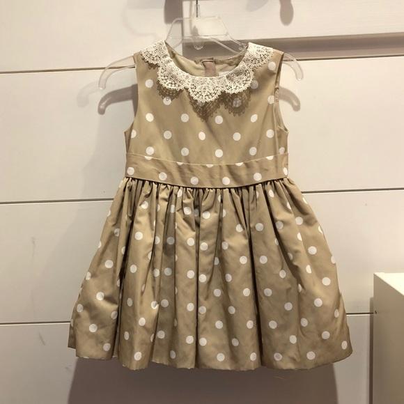 d4a47d57c Neiman Marcus Dresses | Beautiful Beige Polka Dot Dress | Poshmark